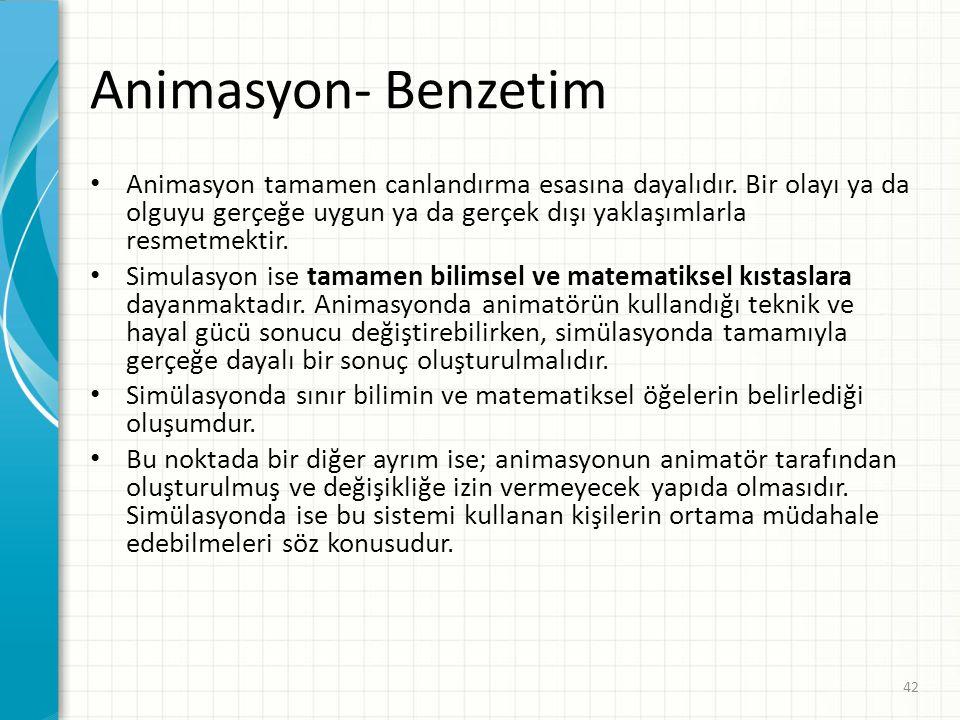 Animasyon- Benzetim