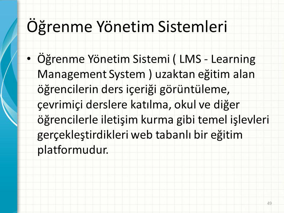 Öğrenme Yönetim Sistemleri