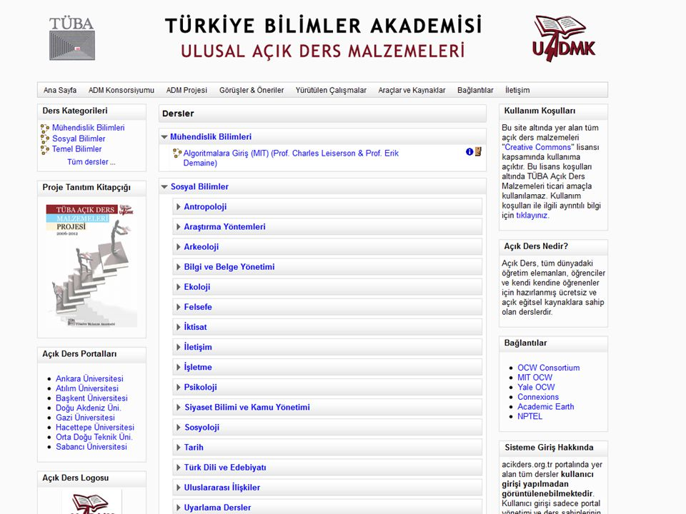 http://www.acikders.org.tr http://acikders.ankara.edu.tr http://acikders.gazi.edu.tr/