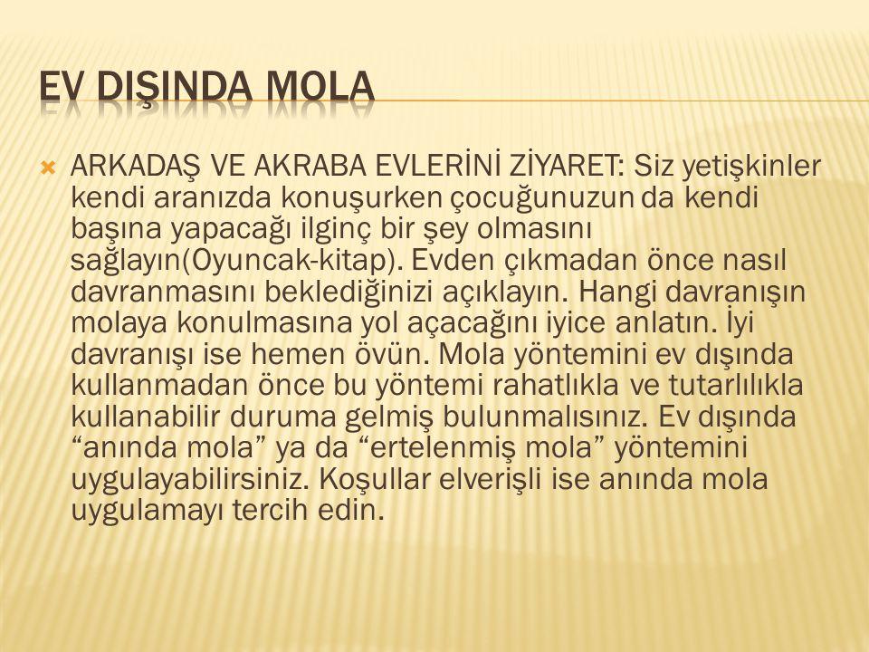 EV DIŞINDA MOLA