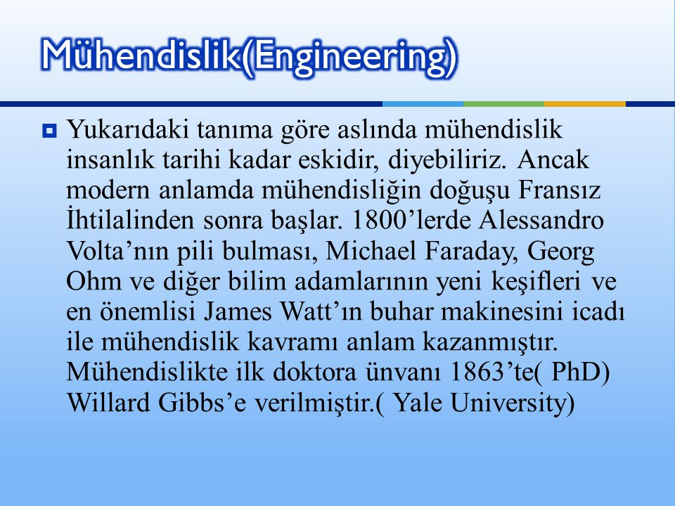 Mühendislik(Engineering)