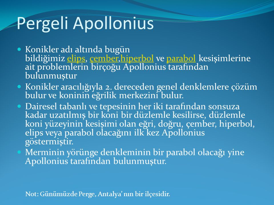 Pergeli Apollonius