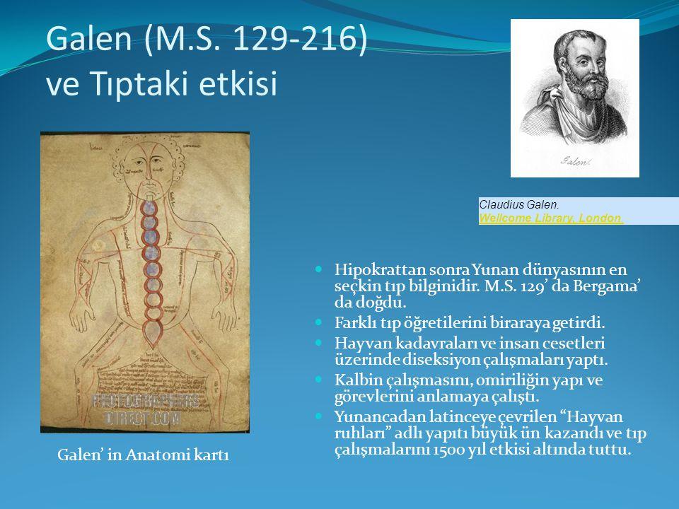 Galen (M.S. 129-216) ve Tıptaki etkisi
