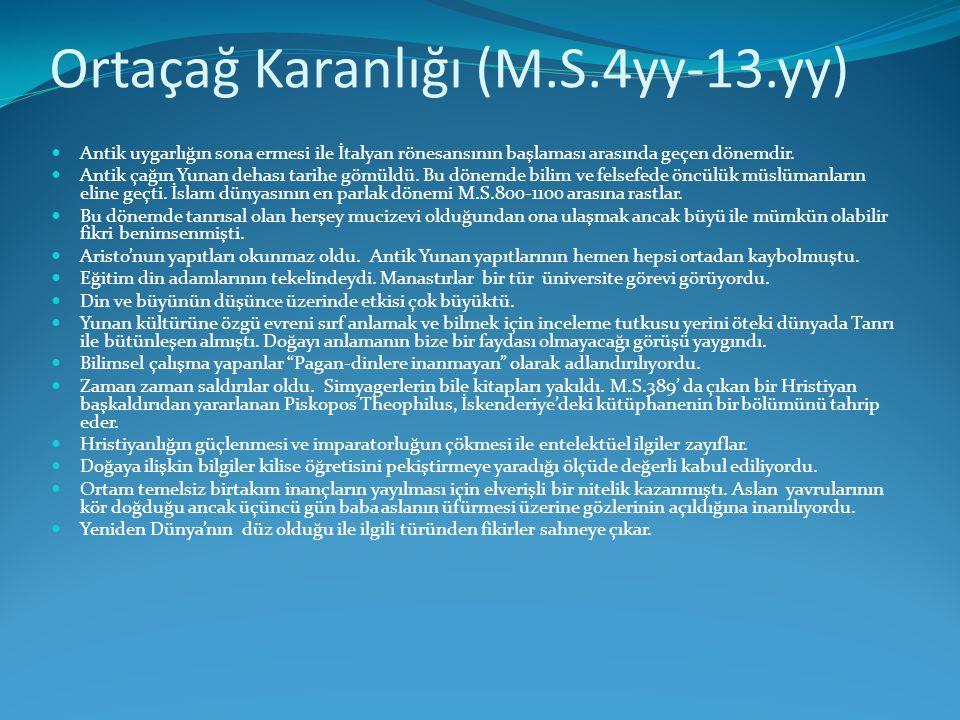 Ortaçağ Karanlığı (M.S.4yy-13.yy)