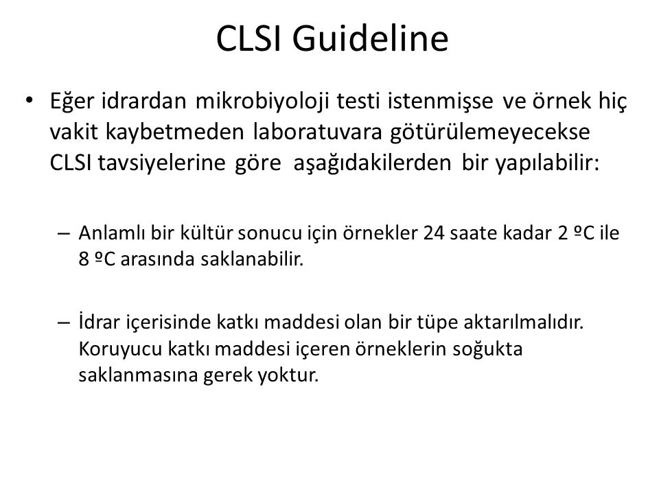 CLSI Guideline