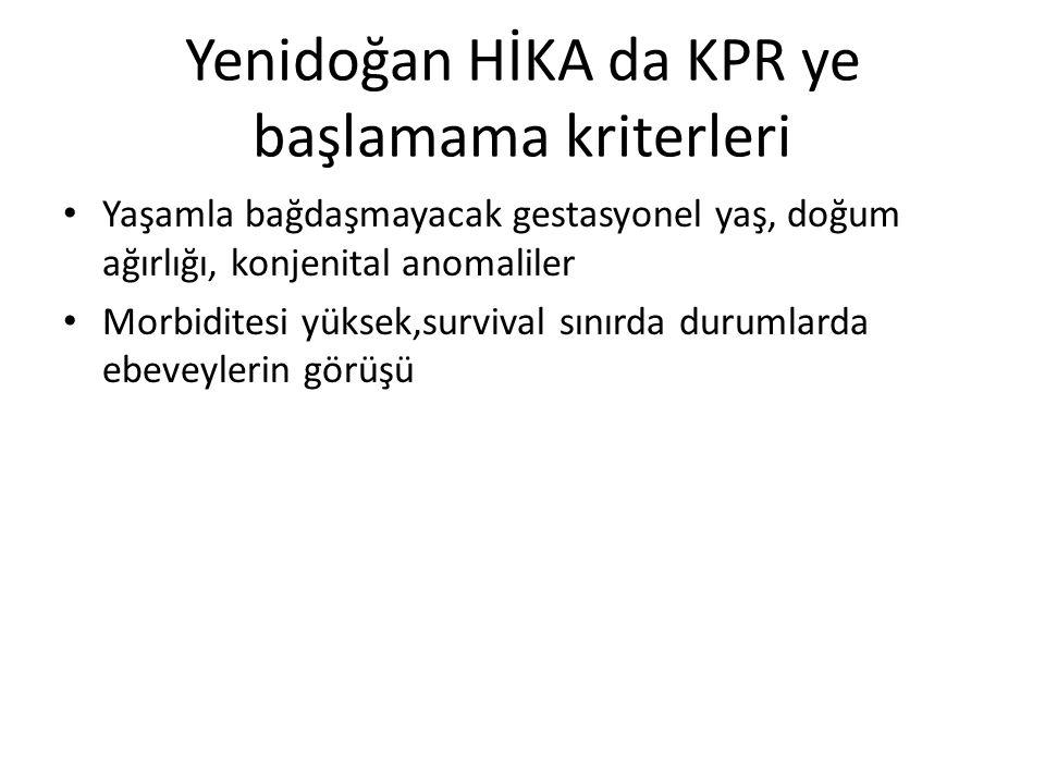Yenidoğan HİKA da KPR ye başlamama kriterleri