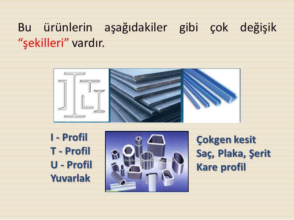 Bu ürünlerin aşağıdakiler gibi çok değişik şekilleri vardır.
