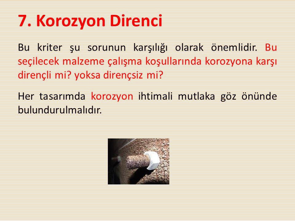 7. Korozyon Direnci