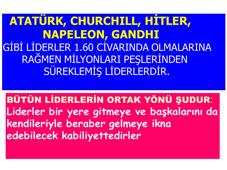 ATATÜRK, CHURCHILL, HİTLER, NAPELEON, GANDHI