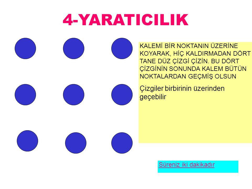 4-YARATICILIK Çizgiler birbirinin üzerinden geçebilir