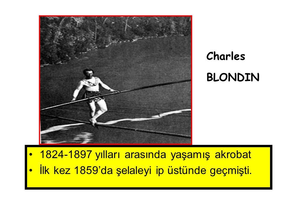 Charles BLONDIN. 1824-1897 yılları arasında yaşamış akrobat.