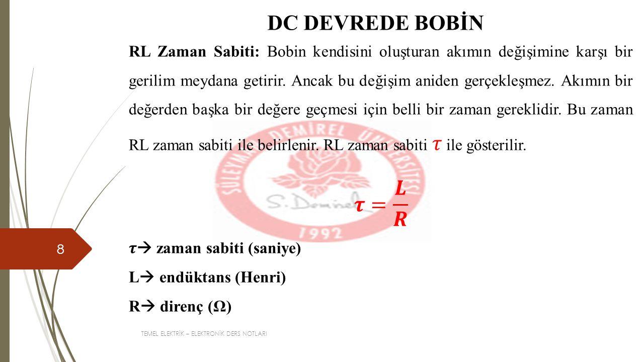 DC DEVREDE BOBİN