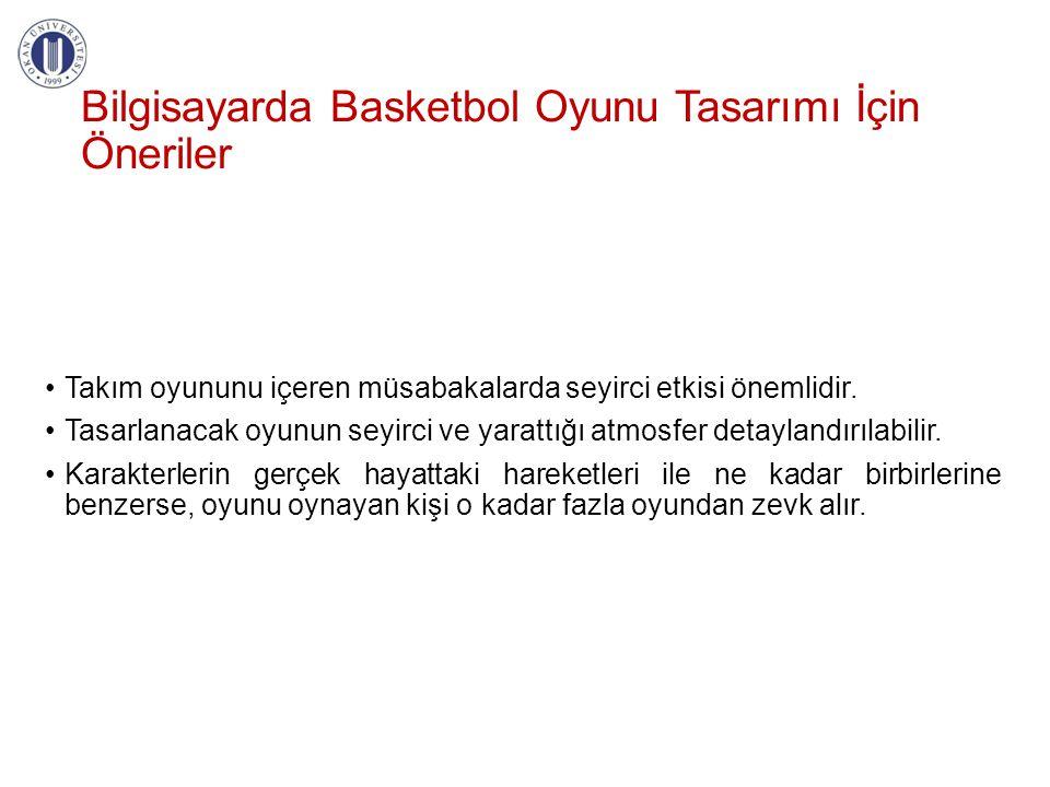 Bilgisayarda Basketbol Oyunu Tasarımı İçin Öneriler