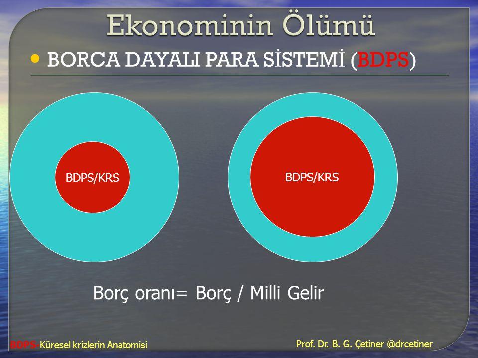 Ekonominin Ölümü BORCA DAYALI PARA SİSTEMİ (BDPS)
