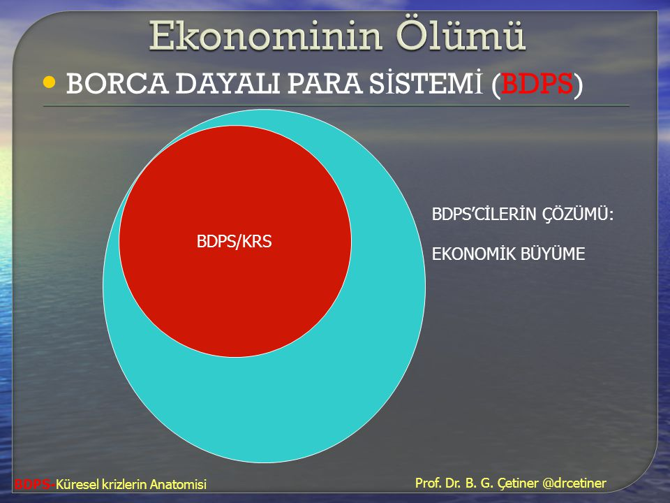 Ekonominin Ölümü BORCA DAYALI PARA SİSTEMİ (BDPS) BDPS/KRS