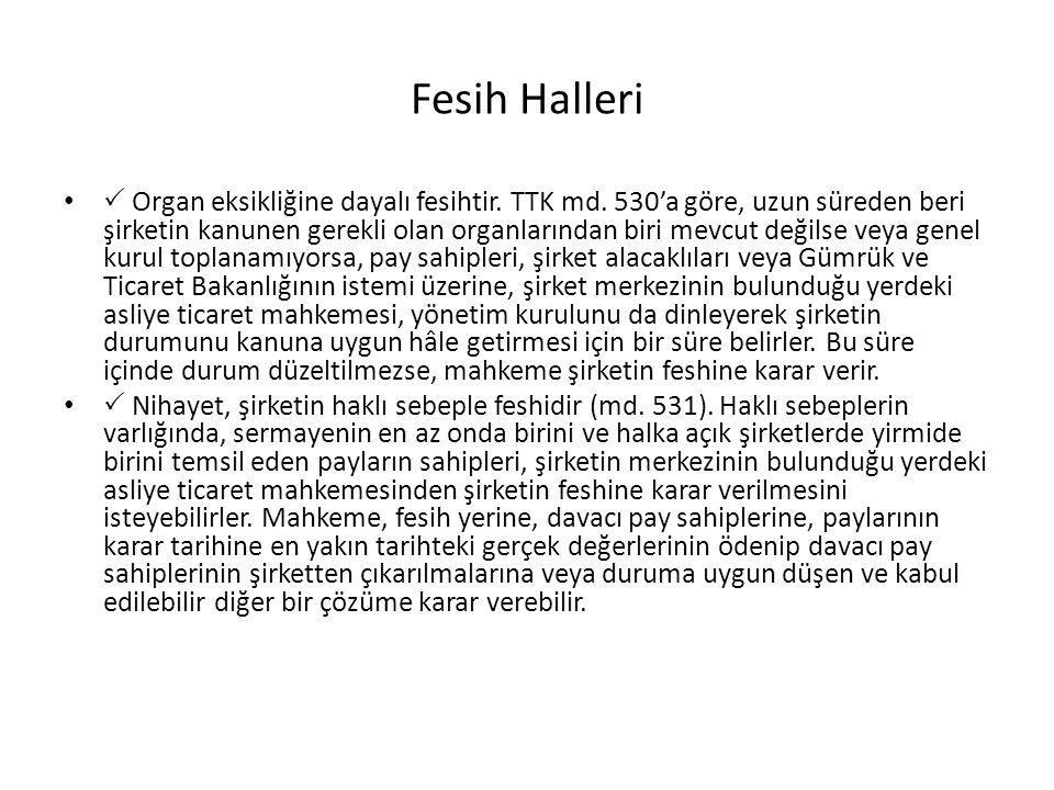 Fesih Halleri