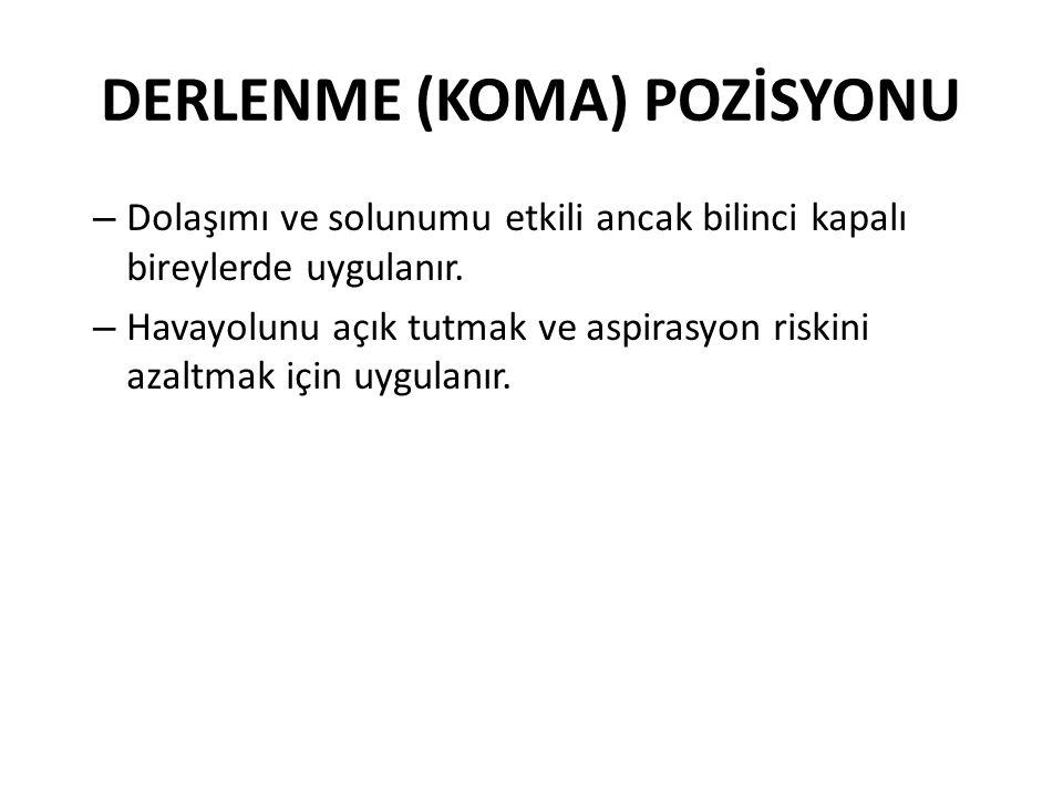 DERLENME (KOMA) POZİSYONU