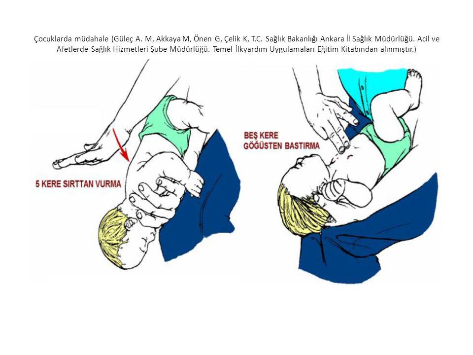 Çocuklarda müdahale (Güleç A. M, Akkaya M, Önen G, Çelik K, T. C