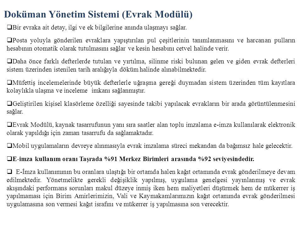 Doküman Yönetim Sistemi (Evrak Modülü)