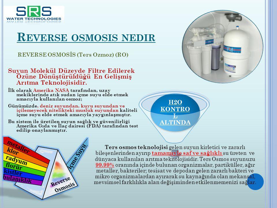 Reverse osmosis nedir H2O KONTROL ALTINDA