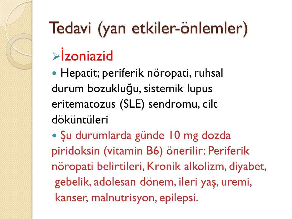 Tedavi (yan etkiler-önlemler)