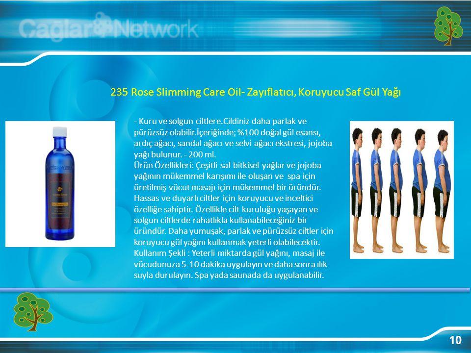 235 Rose Slimming Care Oil- Zayıflatıcı, Koruyucu Saf Gül Yağı