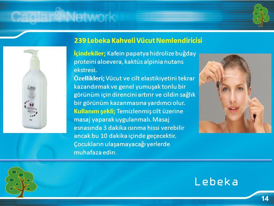 Lebeka 239 Lebeka Kahveli Vücut Nemlendiricisi