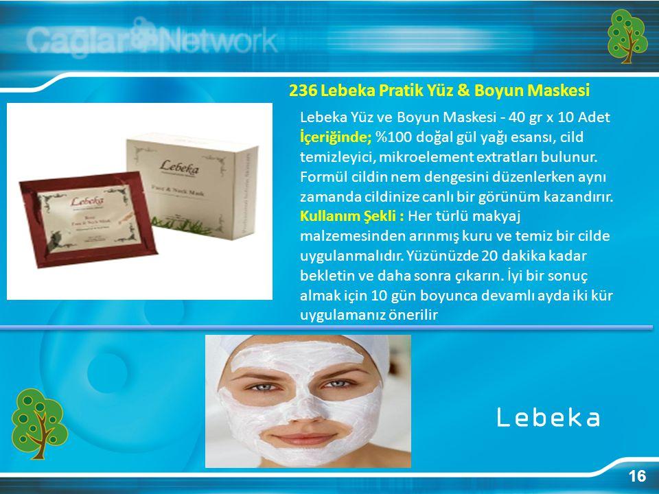 Lebeka 236 Lebeka Pratik Yüz & Boyun Maskesi