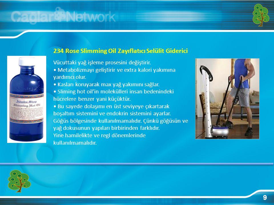 234 Rose Slimming Oil Zayıflatıcı Selülit Giderici