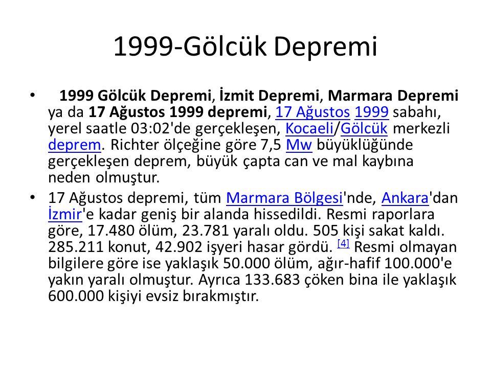 1999-Gölcük Depremi