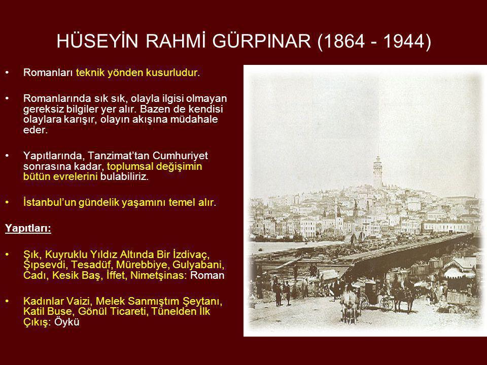 HÜSEYİN RAHMİ GÜRPINAR (1864 - 1944)