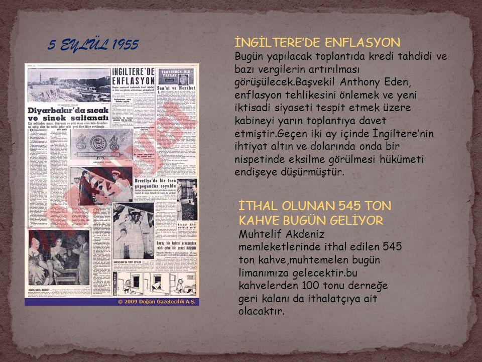5 EYLÜL 1955 İNGİLTERE'DE ENFLASYON