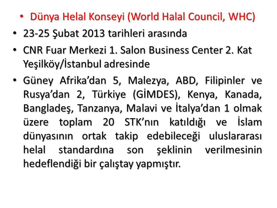 Dünya Helal Konseyi (World Halal Council, WHC)