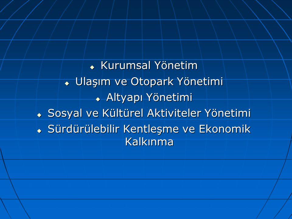 Ulaşım ve Otopark Yönetimi Altyapı Yönetimi
