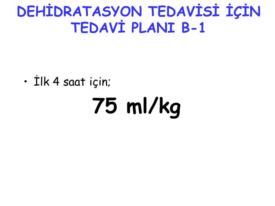 DEHİDRATASYON TEDAVİSİ İÇİN TEDAVİ PLANI B-1