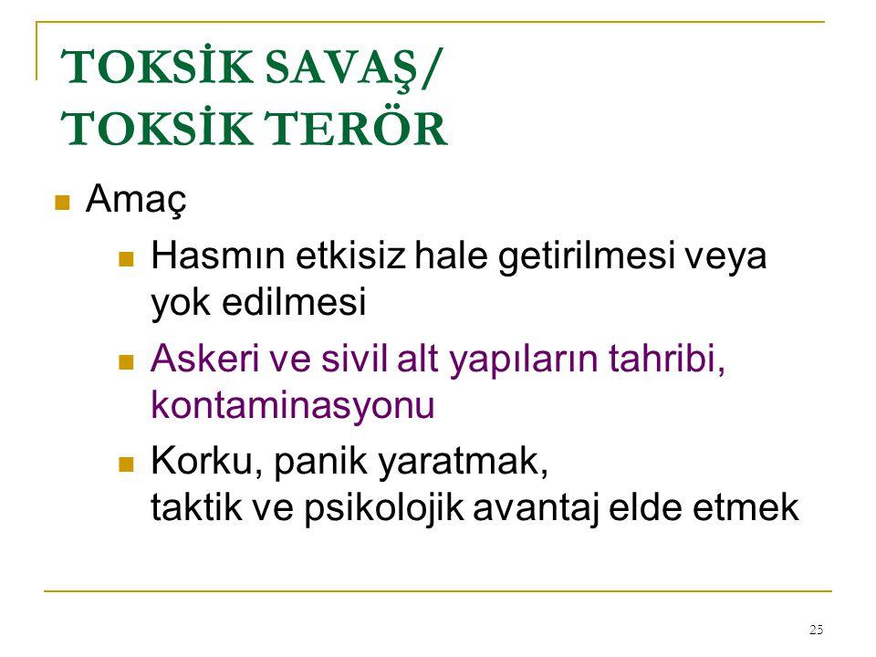 TOKSİK SAVAŞ/ TOKSİK TERÖR