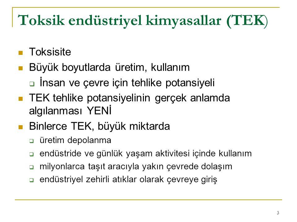 Toksik endüstriyel kimyasallar (TEK)
