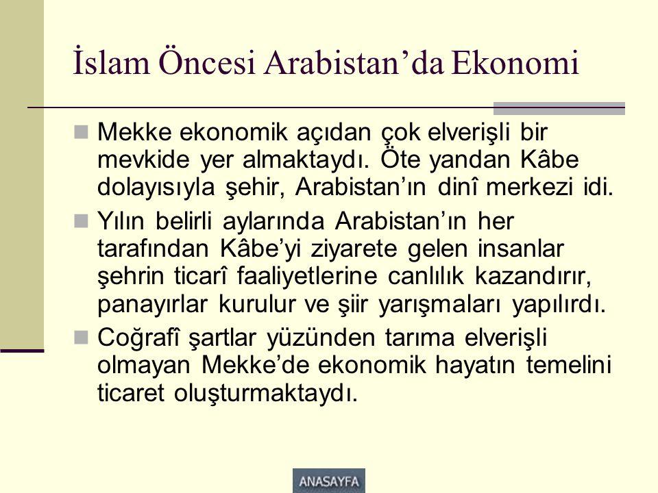 İslam Öncesi Arabistan'da Ekonomi