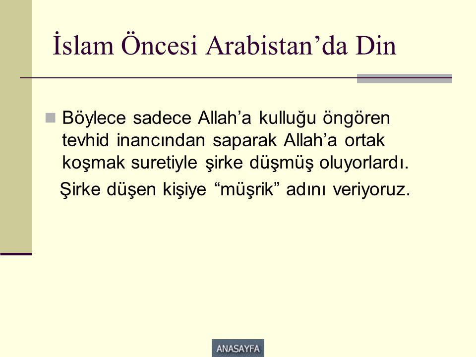 İslam Öncesi Arabistan'da Din