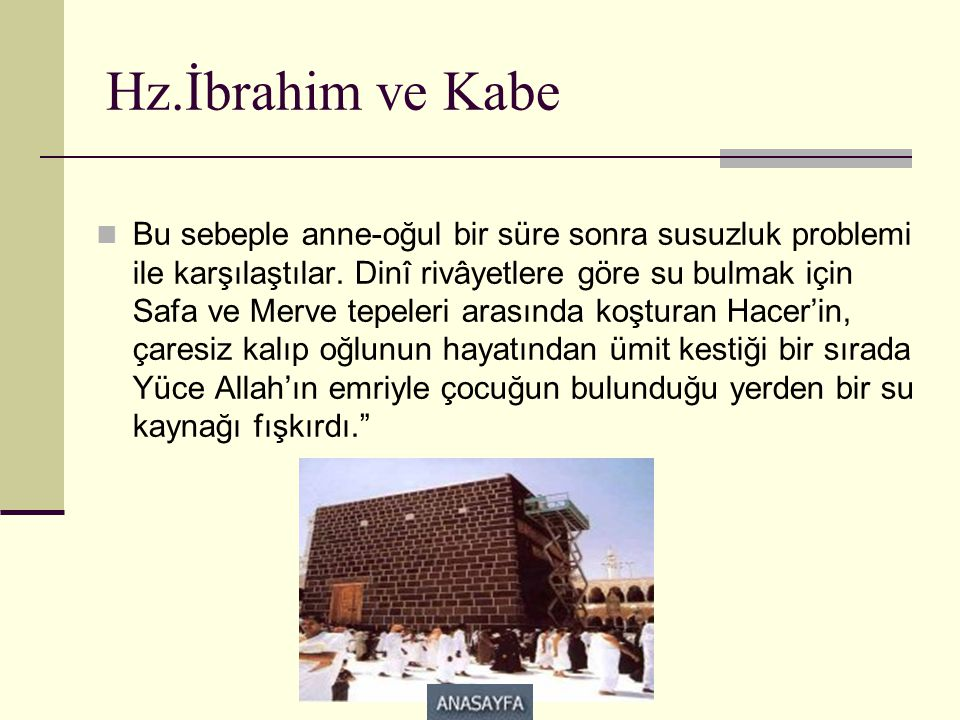 Hz.İbrahim ve Kabe