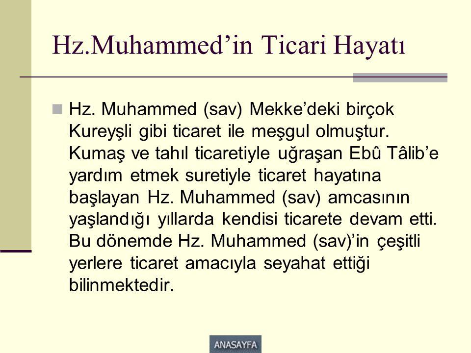 Hz.Muhammed'in Ticari Hayatı