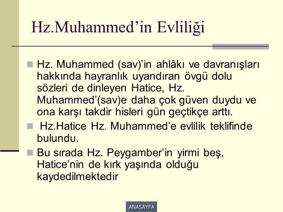 Hz.Muhammed'in Evliliği