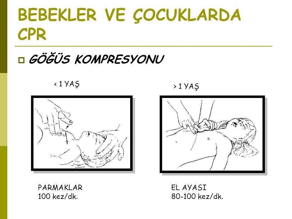 BEBEKLER VE ÇOCUKLARDA CPR