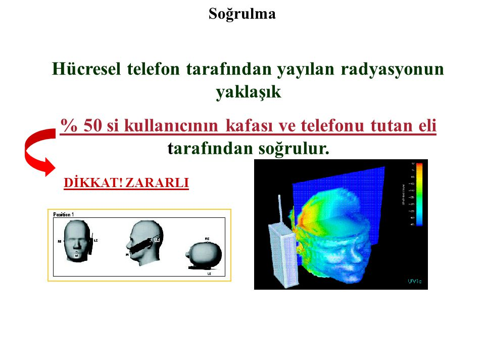 Hücresel telefon tarafından yayılan radyasyonun yaklaşık