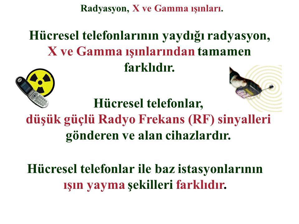 Radyasyon, X ve Gamma ışınları.
