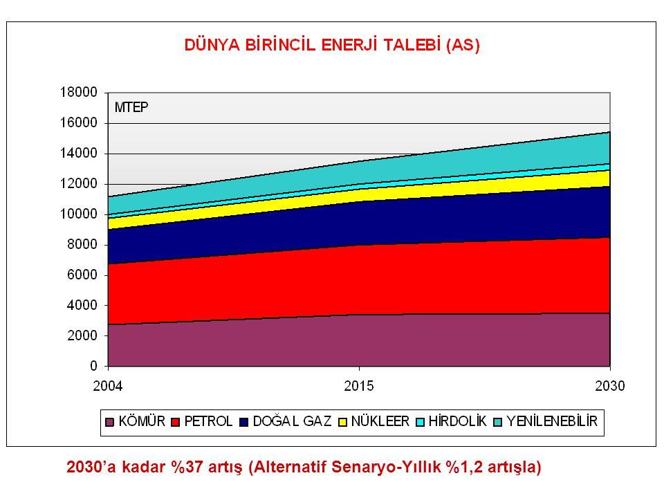 2030'a kadar %37 artış (Alternatif Senaryo-Yıllık %1,2 artışla)