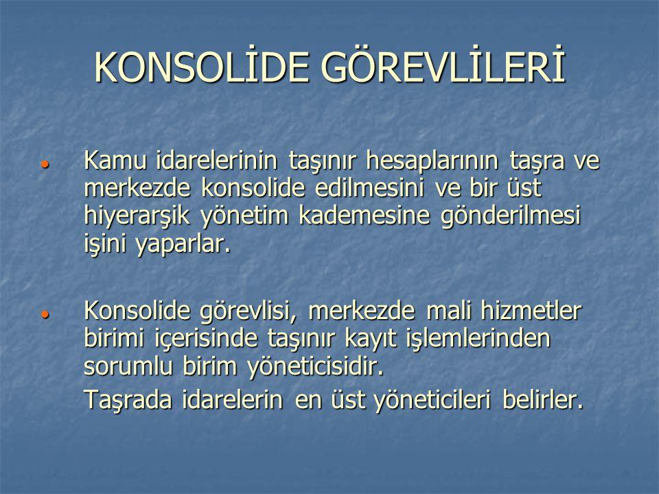 KONSOLİDE GÖREVLİLERİ