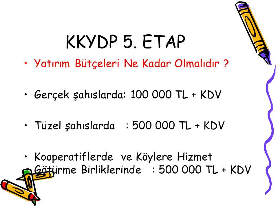 KKYDP 5. ETAP Yatırım Bütçeleri Ne Kadar Olmalıdır