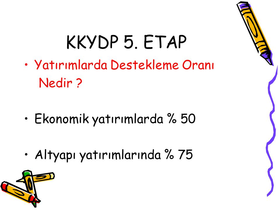 KKYDP 5. ETAP Yatırımlarda Destekleme Oranı Nedir