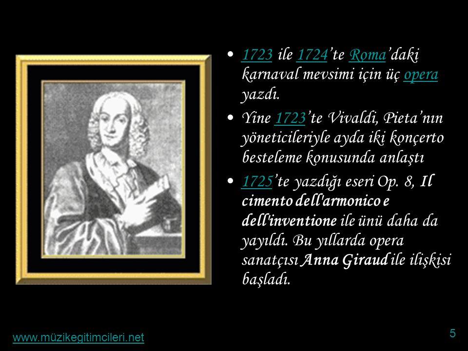 1723 ile 1724'te Roma'daki karnaval mevsimi için üç opera yazdı.